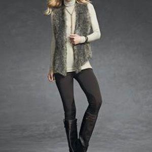 Cabi Faux Fur Long Vest